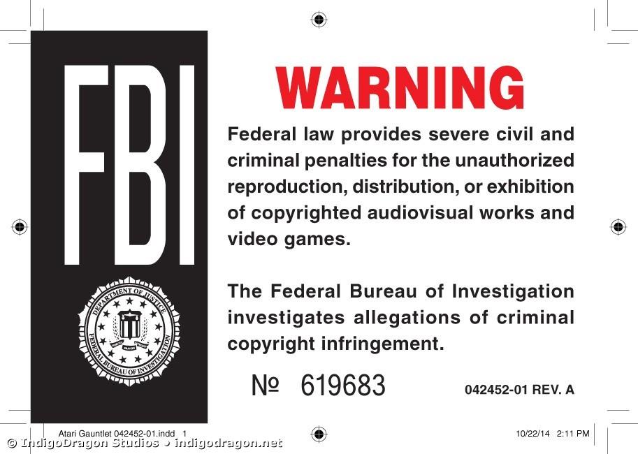 FBI Warning Label
