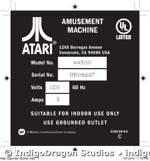 Atari Gauntlet Sticker