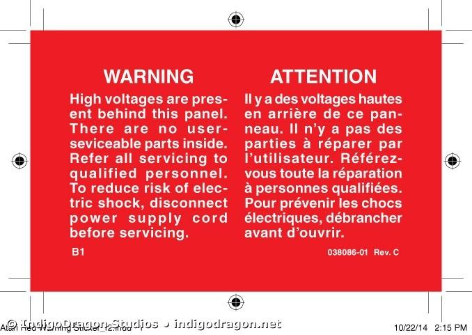 Red Warning Label
