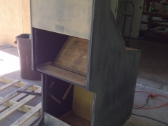 Sanding the Cabinet 2