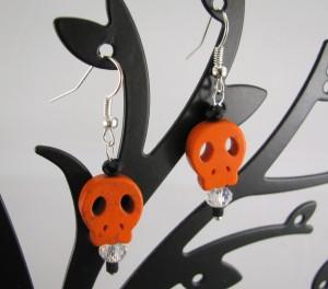 Orange cutout skullies