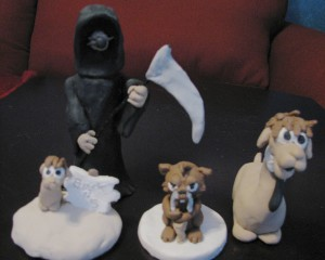 Think Weasel characters in sculpey!